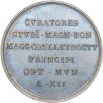 reverse:  Pio IX (1846-1878), Giovanni Mastai Ferretti Medaglia 1857, A. XII, offerta dall Università di Bologna al Pontefice in occasione della sua visita.