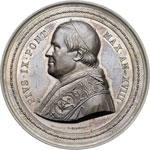 obverse:  Pio IX  (1846-1878), Giovanni Mastai Ferretti Medaglia 1863, A. XVII, emessa a cura di Mons. Benedetto Riccabona, vescovo di Trento, per il terzo centenario del Concilio di Trento.