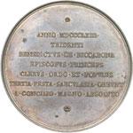reverse:  Pio IX  (1846-1878), Giovanni Mastai Ferretti Medaglia 1863, A. XVII, emessa a cura di Mons. Benedetto Riccabona, vescovo di Trento, per il terzo centenario del Concilio di Trento.