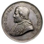 obverse:  Pio IX  (1846-1878), Giovanni Mastai Ferretti Medaglia A. XX, 29 giugno 1865.