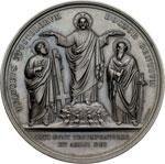 obverse:  Pio IX  (1846-1878), Giovanni Mastai Ferretti Medaglia per il 18° centenario del martirio dei SS. Pietro e Paolo, 29 giugno 1867.