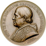 obverse:  Pio IX  (1846-1878), Giovanni Mastai Ferretti Medaglia 1869.