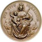 reverse:  Pio IX  (1846-1878), Giovanni Mastai Ferretti Medaglia 1869.