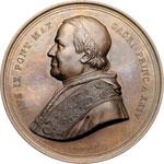obverse:  Pio IX  (1846-1878), Giovanni Mastai Ferretti Medaglia A. XXIV per il XX Concilio Ecumenico, 8 dicembre 1869.