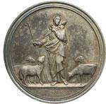 reverse:  Pio IX  (1846-1878), Giovanni Mastai Ferretti Medaglia A. XXXII, 29 giugno 1877.