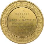 reverse:  Pio IX  (1846-1878), Giovanni Mastai Ferretti Medaglia commemorativa.