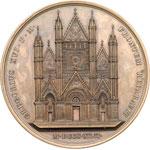 obverse:  Leone XIII (1878-1903), Gioacchino Pecci Medaglia 1880 per il 7° centenario dall inizio della costruzione del Duomo di Orvieto, 1880.