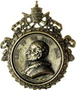 obverse:  Leone XIII (1878-1903), Gioacchino Pecci Placchetta