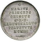 reverse:  Sede Vacante 1903 (20 luglio - 4 agosto) Medaglia emessa dal Maresciallo del Conclave Principe Mario Chigi.