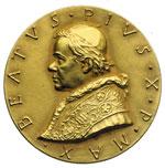 obverse:  Pio X (1903-1914), Giuseppe Melchiorre Sarto Medaglia per la beatificazione.