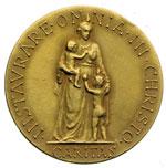 reverse:  Pio X (1903-1914), Giuseppe Melchiorre Sarto Medaglia per la beatificazione.