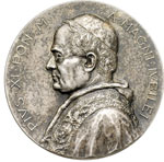obverse:  Pio XI (1922-1939), Achille Ratti Medaglia per il Giubileo del 1925.