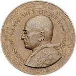 obverse:  Pio XI (1922-1939), Achille Ratti Medaglia per il pellegrinaggio ungherese nel giubileo del 1925.