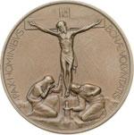 reverse:  Pio XI (1922-1939), Achille Ratti Medaglia per il pellegrinaggio ungherese nel giubileo del 1925.