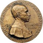 obverse:  Pio XII (1938-1959), Eugenio Pacelli. Medaglia, 2 aprile 1949 per il 50° anniversario dell ordinazione sacerdotale.