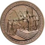 reverse:  Pio XII (1938-1959), Eugenio Pacelli. Coppia di medaglie in argento e bronzo emesse per il Concistoro del 12 gennaio 1953.