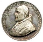 obverse:  Giovanni XXIII (1958-1963), Angelo Roncalli Medaglia, A. I. Per il centenario di Lourdes.