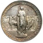 reverse:  Giovanni XXIII (1958-1963), Angelo Roncalli Medaglia, A. I. Per il centenario di Lourdes.