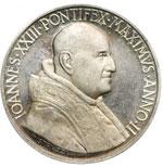 obverse:  Giovanni XXIII (1958-1963), Angelo Roncalli Medaglia annuale A. II, per la consacrazione dei Vescovi missionari.