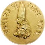 obverse:  Paolo VI (1963-1678), Giovanni Battista Montini Medaglia 1963 per la convocazione della seconda sessione del Concilio Ecumenico Vaticano II.