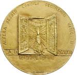 reverse:  Paolo VI (1963-1678), Giovanni Battista Montini Medaglia 1963 per la convocazione della seconda sessione del Concilio Ecumenico Vaticano II.
