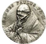 obverse:  Giovanni Paolo II (1978-2005), Karol Wojtyla Medaglia per la visita del Pontefice a Montecitorio, il 14 novembre 2002.