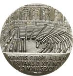 reverse:  Giovanni Paolo II (1978-2005), Karol Wojtyla Medaglia per la visita del Pontefice a Montecitorio, il 14 novembre 2002.