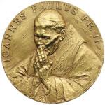 obverse:  Giovanni Paolo II (1978-2005), Karol Wojtyla Medaglia, per la visita del Pontefice a Montecitorio avvenuta il 14 novembre 2002.