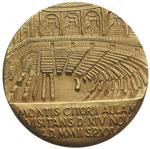 reverse:  Giovanni Paolo II (1978-2005), Karol Wojtyla Medaglia, per la visita del Pontefice a Montecitorio avvenuta il 14 novembre 2002.