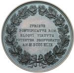 reverse:  Charles Forbes René, comte de Montalembert (1810-1870) Medaglia per la costituzione di un partito politico cattolico.