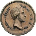 obverse:  Henri-Eugène-Philippe-Louis d Orleans, duca d Aumale Medaglia con rebus come legende.