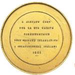reverse:   Medaglia 1855 per Alberto Cohn.