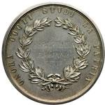 reverse:  Genova   Medaglia personalizzata per gli studi accademici, circa 1900.