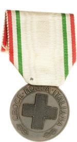 obverse:  Croce Rossa Medaglia ai benemerenti delle Croce Rossa Italiana.
