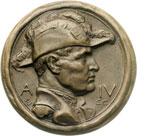 obverse:  Fascismo. Medaglia A. IV, 1925-26, per la battaglia del grano.