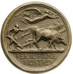 reverse:  Fascismo. Medaglia A. IV, 1925-26, per la battaglia del grano.
