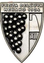 obverse:  Merano  Fascismo. Medaglietta 1934, A.XII per la festa dell uva, in bustina originale dell epoca dello stabilimento Picchiani & Barlacchi Firenze.