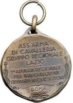 reverse:  Roma Medaglia 1933 dell associazione Arma di Cavalleria gruppo regionale Lazio.