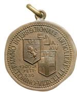 reverse:  Vercelli  Fascismo. Medaglia 1936 per il raduno interregionale artiglieri.
