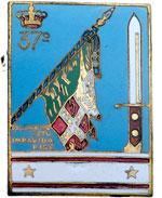 obverse:   Distintivo a spilla, 26X35 mm del 37° Regimento fanteria Ravenna con il motto \