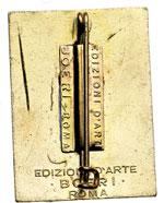 reverse:   Distintivo a spilla, 26X35 mm del 37° Regimento fanteria Ravenna con il motto \