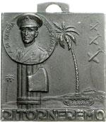 obverse:  Amedeo di Savoia (1898-1942) Medaglia unifacie in memoria di Amedeo di Savoia duca d Aosta.