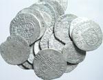 obverse:  Casa Savoia   Lotto di 22 monete del XVI sec.: 10 bianchi o da 4 soldi, 9 grossi e 3 soldi