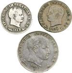 obverse:  Napoleone I Re d Italia (1805-1814) Lotto di 3 monete di Napoleone Bonaparte: 10 soldi 1812 Venezia (RRR), Centesimo 1809 Bologna, Lira 1811 Bologna.