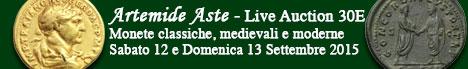 Banner Artemide - Asta Numismatica 30E