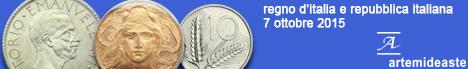 Banner Artemide - Monete del Regno d'Italia e monete della Repubblica Italiana