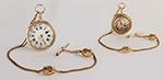 obverse: ANONYMOUS, pocket watch, around 1790. Round case in 18K yellow gold