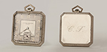 obverse: VACHERON & CONSTANTIN Genève, pocket watch, around 1930. Square-shaped case in 18K white gold