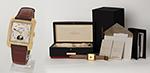 "obverse: VACHERON CONSTANTIN ""TOLEDO"", 2006. Flared rectangular-shaped case in 18k yellow gold"