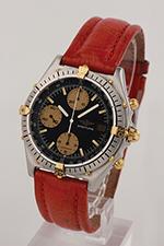 "obverse: BREITLING "" Chronomat"" chronograph, around 1985."